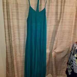 Forever 21 Teal Green Maxi Dress XL